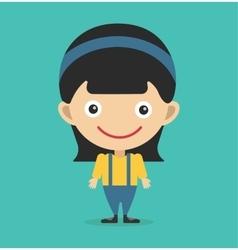 Cute little girl cute vector image