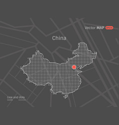 Dotted china map vector
