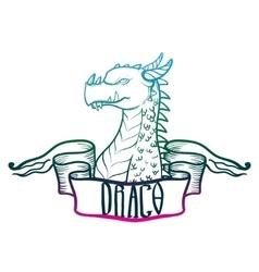Dragon head fantastic dragon lizard vector