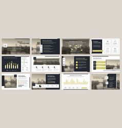elements of infographics for presentations vector image