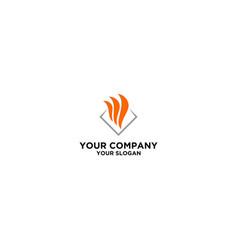 Fire flare logo icon design stock vector