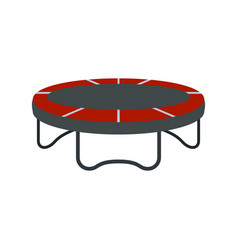 garden trampoline icon flat style vector image