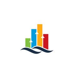graph wave logo icon design vector image