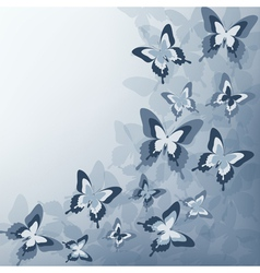 Grey background with butterfly vector