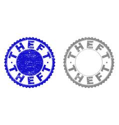 Grunge theft textured watermarks vector