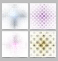 halftone heart pattern background set vector image