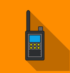 Handheld transceiver icon in flat style isolated vector