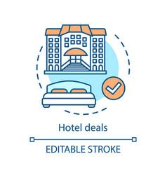 hotel deals concept icon vector image