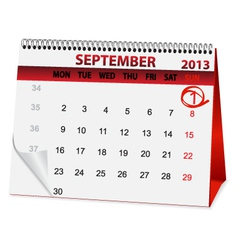 Icon calendar for September 1 vector