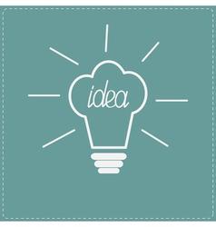 idea light bulb in shape chef hat flat design s vector image