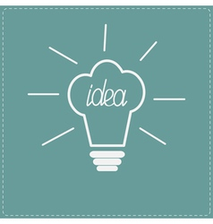 Idea light bulb in shape of chef hat Flat design s vector image