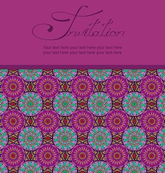 Invitation or card with Moroccan pattern vector