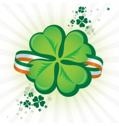 Irish shamrock icon vector image