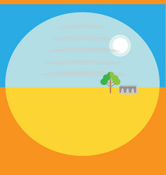 Landscape perspective is a flat image background vector