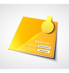 login label background vector image