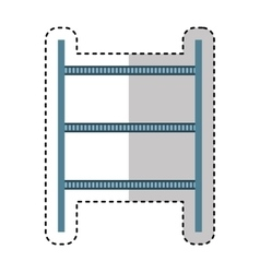 Logistic shelf isolated icon vector