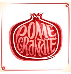 Logo for pomegranate vector