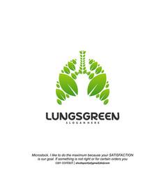 lung care logo designs nature lungs logo concept vector image