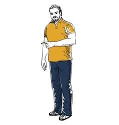 man showing something vector image