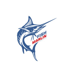 Marlin fish logo design fishing logo design vector