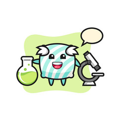 Mascot character pillow as a scientist vector