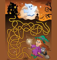 Maze 6 with halloween theme vector