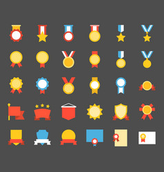 medal and badge icon flat design vector image