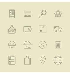 Navigation buttons for online internet store vector
