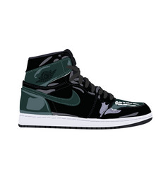 nike air jordan sneaker trainer flat design ve vector image
