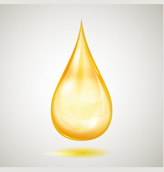 one big yellow drop vector image