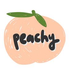 Peachy hand drawn vector