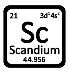 Periodic table element scandium icon vector image
