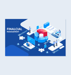 project management financial report strategy vector image