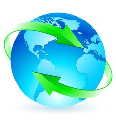 protecting the planet vector image