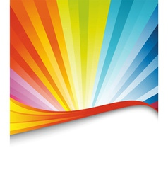 rainbow birthday banner vector image