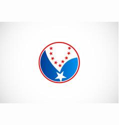 round star logo vector image