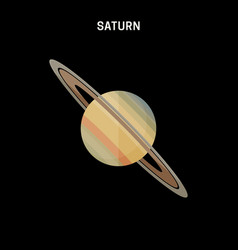 saturn flat icon vector image