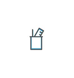 school supplies icon design stationery icon design vector image