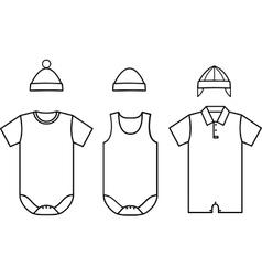 Set child bawear vector