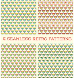 Set of Seamless Retro Vintage Patterns in vector image