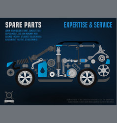 Spare parts car poster vector