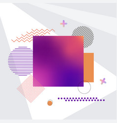 square and other shapes on vector image