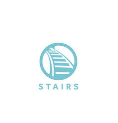 Stairs design logo vector