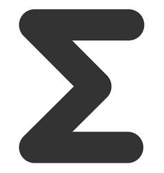 Sum flat icon vector