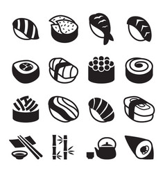 Sushi icons vector
