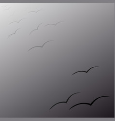 Swallows flying in the night vector