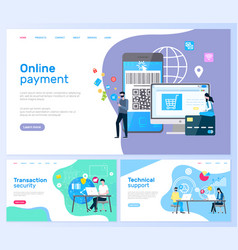 technical support and online payment transaction vector image