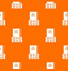 three books pattern seamless vector image