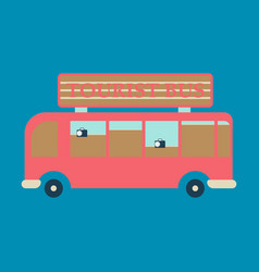 Time to travel concept happy family rides bus vector