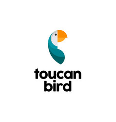 toucan bird logo design inspiration vector image